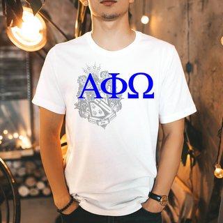 Alpha Phi Omega Greek Crest - Shield T-Shirt