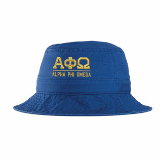Alpha Phi Omega Greek Letter Bucket Hat