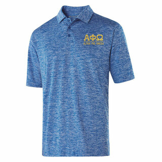 Alpha Phi Omega Greek Letter Electrify Polo
