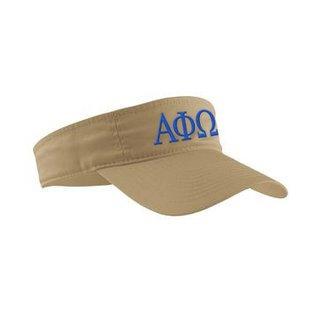 Alpha Phi Omega Greek Letter Visor