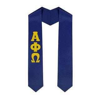 Alpha Phi Omega Greek Lettered Graduation Sash Stole - Best Value