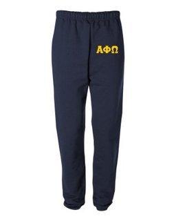 Alpha Phi Omega Greek Lettered Thigh Sweatpants