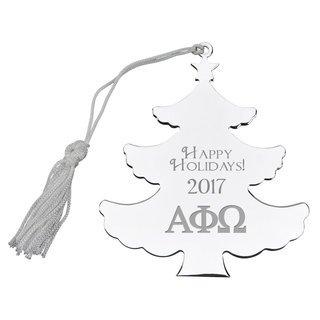 Alpha Phi Omega Holiday Tree Shaped Ornament
