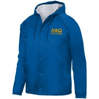 Alpha Phi Omega Hooded Coach's Jacket