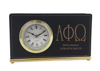 Alpha Phi Omega Horizontal Desk Clock