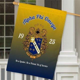 Alpha Phi Omega House Flag