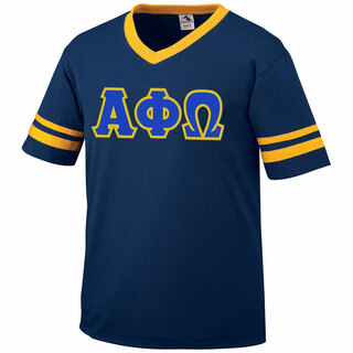 DISCOUNT-Alpha Phi Omega Jersey With Greek Applique Letters