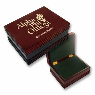 Alpha Phi Omega Mascot Keepsake Box