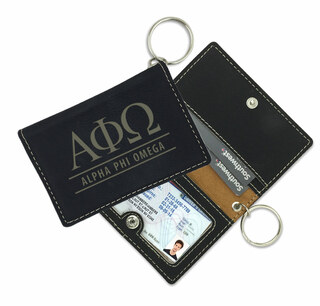 Alpha Phi Omega Leatherette ID Key Holders