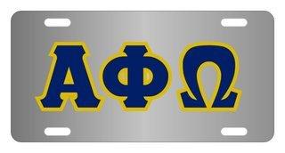 Alpha Phi Omega Lettered License Cover