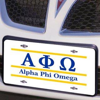 Alpha Phi Omega Lettered Lines License Cover