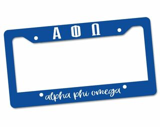 Alpha Phi Omega Custom License Plate Frame