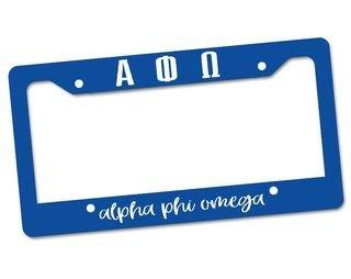 Alpha Phi Omega Custom License Plate Frame