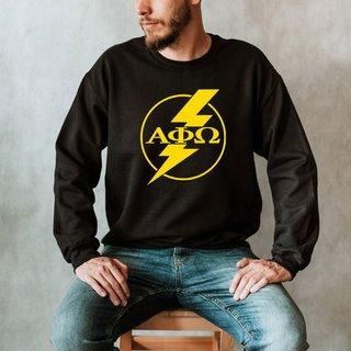 Alpha Phi Omega Lightning Crew Sweatshirt
