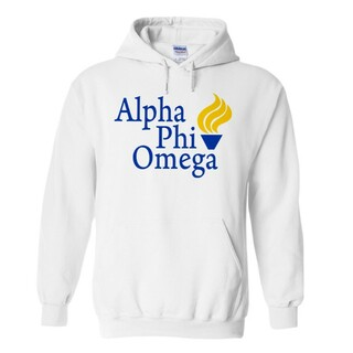 Alpha Phi Omega Logo Hooded Sweatshirt