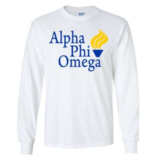 Alpha Phi Omega Logo Long Sleeve Tee