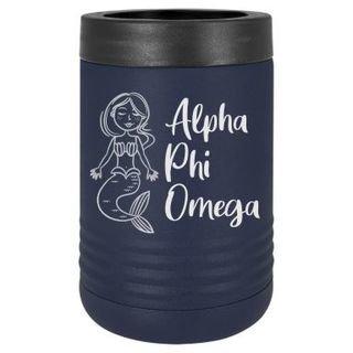 Alpha Phi Omega Mermaid Stainless Steel Beverage Holder