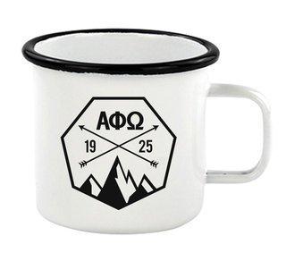 Alpha Phi Omega Metal Camping Mug