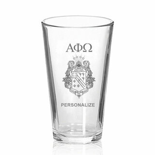 Alpha Phi Omega Mixing Glass