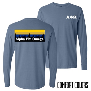 Alpha Phi Omega Outdoor Long Sleeve T-shirt - Comfort Colors