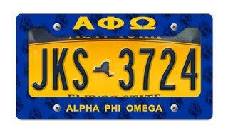 Alpha Phi Omega New License Plate Frame