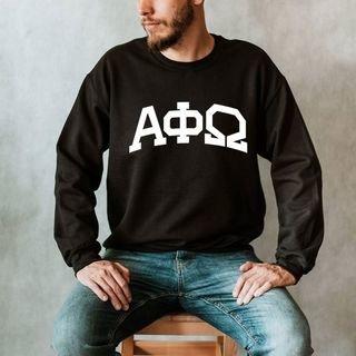Alpha Phi Omega Arched Greek Letter Crewneck Sweatshirt