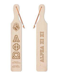 Alpha Phi Omega Old School Wood Greek Paddle