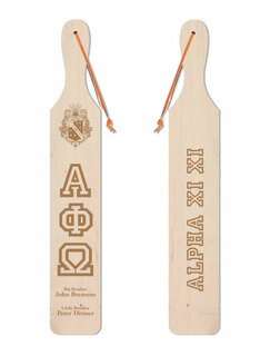 Alpha Phi Omega Old School Wood Greek Paddle