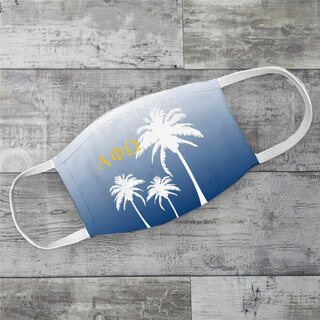 Alpha Phi Omega Palm Trees Face Mask