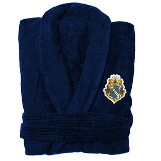DISCOUNT-Alpha Phi Omega Patch Bathrobe