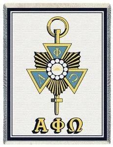 Alpha Phi Omega Pin Afghan Blanket
