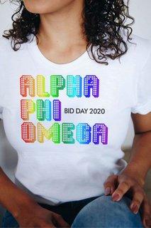 Alpha Phi Omega Pixel Tee - Comfort Colors