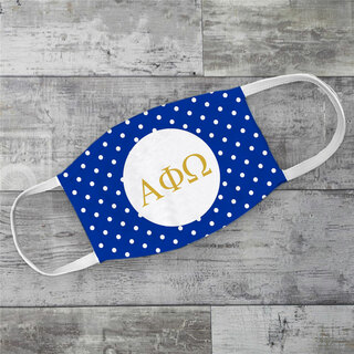 Alpha Phi Omega Polka Dots Face Mask