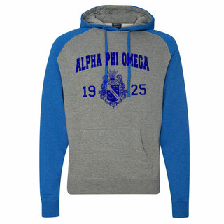 Alpha Phi Omega Raglan Heather Pullover