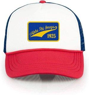 Alpha Phi Omega Red, White & Blue Trucker Hat