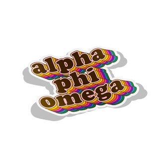 Alpha Phi Omega Retro Maya Decal Sticker
