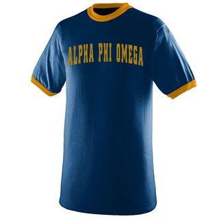 Alpha Phi Omega Ringer T-shirt