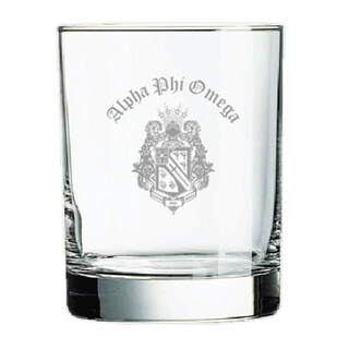 Alpha Phi Omega Old Style Glass
