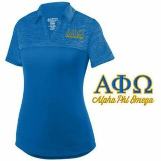 Alpha Phi Omega Shadow Tonal Sport Polo
