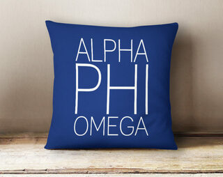 Alpha Phi Omega Simple Pillow