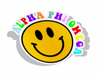 Alpha Phi Omega Smiley Face Decal Sticker