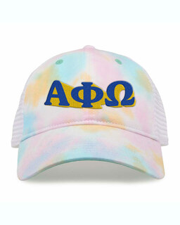 Alpha Phi Omega Sorority Sorbet Tie Dyed Twill Hat