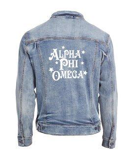 Alpha Phi Omega Star Struck Denim Jacket
