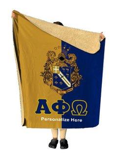 Alpha Phi Omega Two Tone Sherpa Lap Blanket