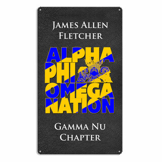 Alpha Phi Omega Vintage Metal Wall Sign