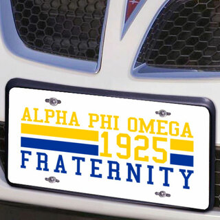 Alpha Phi Omega Year License Plate Cover
