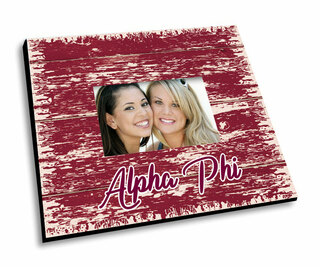 Alpha Phi Painted Fence Picture Frame