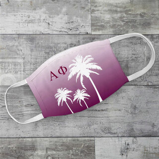 Alpha Phi Palm Trees Face Mask