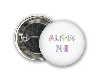 Alpha Phi Pastel Letter Button