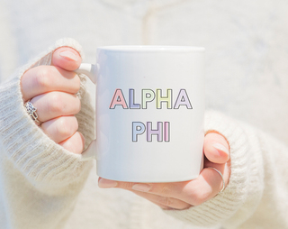 Alpha Phi Pastel Mug